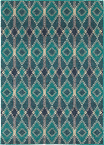 Oriental Weavers Highlands 6627B Blue/Teal Area Rug main image