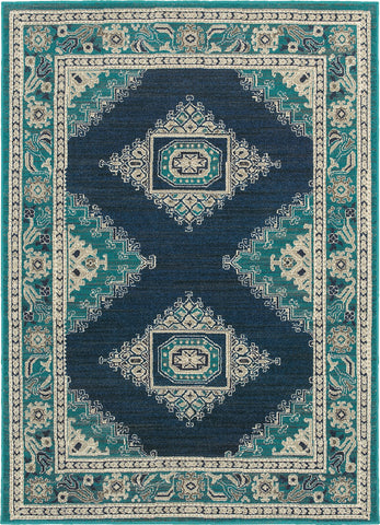 Oriental Weavers Highlands 6658A Blue/Ivory Area Rug main image