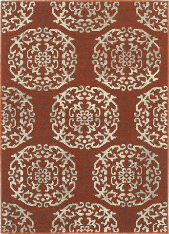 Oriental Weavers Highlands 6672B Red/Beige Area Rug main image