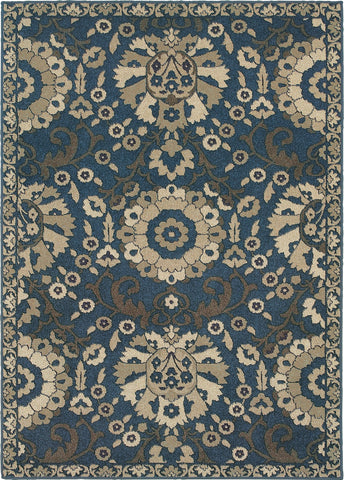 Oriental Weavers Highlands 6682A Midnight/Beige Area Rug main image