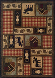 Oriental Weavers Hudson 1067A Brown/Red Area Rug main image