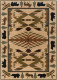 Oriental Weavers Hudson 1072A Ivory/Green Area Rug main image
