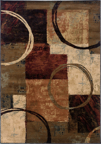 Oriental Weavers Hudson 2544B Brown/Black Area Rug main image