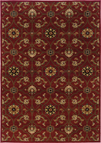 Oriental Weavers Hudson 3299A Red/Brown Area Rug main image
