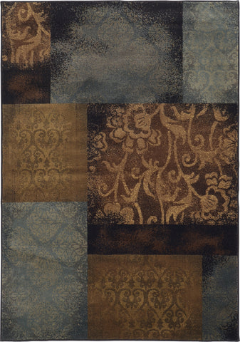 Oriental Weavers Hudson 4878B Blue/Brown Area Rug main image