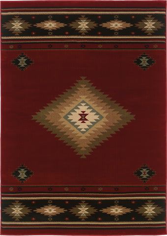 Oriental Weavers Hudson 087K1 Red/Green Area Rug main image