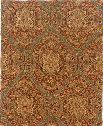 Oriental Weavers Huntley 19101 Blue/Rust Area Rug main image