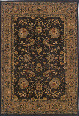 Oriental Weavers Infinity 1104F Black/Tan Area Rug main image