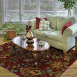 Oriental Weavers Infinity 1105B Red/Green Area Rug Roomshot