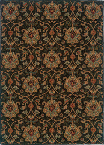 Oriental Weavers Infinity 1724E Black/Gold Area Rug main image