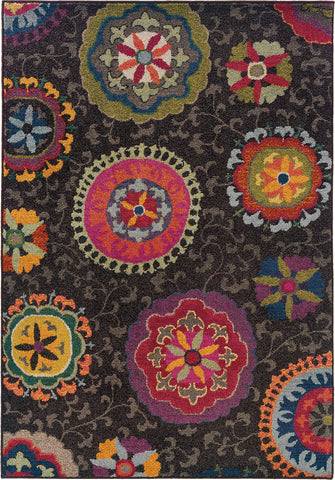 Oriental Weavers Kaleidoscope 1333N Charcoal/Multi Area Rug main image