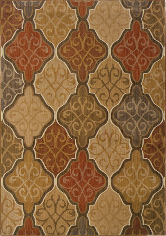 Oriental Weavers Kasbah 3832C Orange/Gold Area Rug main image