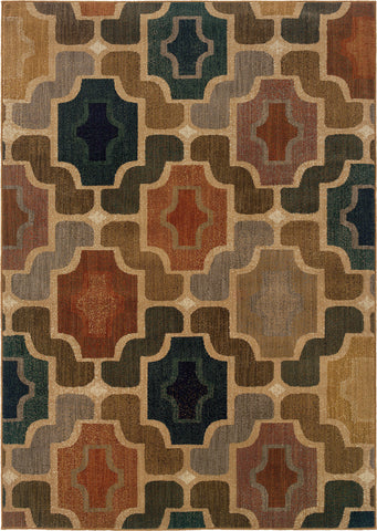 Oriental Weavers Kasbah 3838B Multi/Gold Area Rug main image