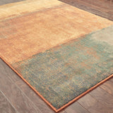 Oriental Weavers Kasbah 3937B Orange/Multi Area Rug Closeup