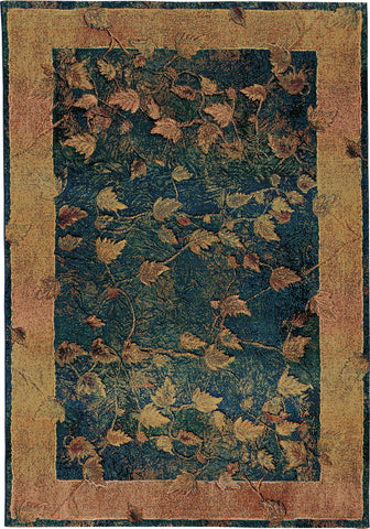 Oriental Weavers Kharma 349B4 Blue/Gold Area Rug main image