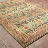 Oriental Weavers Kharma 450G4 Green/Brown Area Rug Closeup
