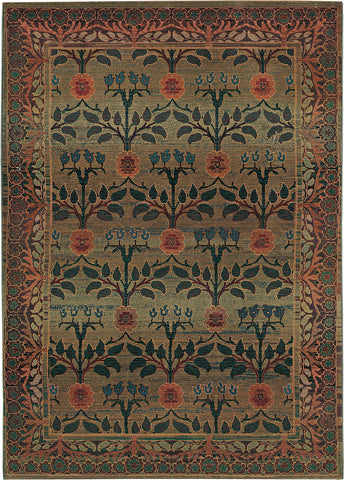 Oriental Weavers Kharma 450G4 Green/Brown Area Rug main image