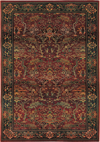 Oriental Weavers Kharma 465R4 Red/Green Area Rug main image