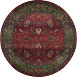 Oriental Weavers Kharma 807C4 Red/Green Area Rug Round