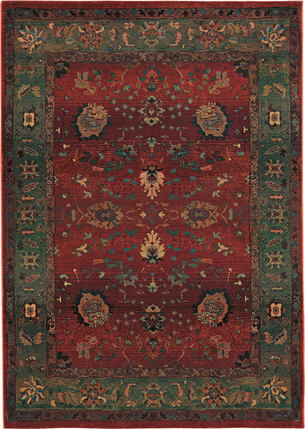 Oriental Weavers Kharma 807C4 Red/Green Area Rug main image
