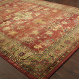 Oriental Weavers Kharma 836C4 Red/Green Area Rug Closeup