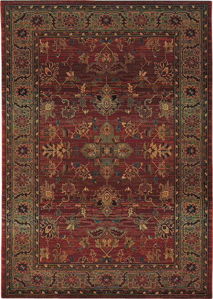 Oriental Weavers Kharma 836c4 Red Green Area Rug