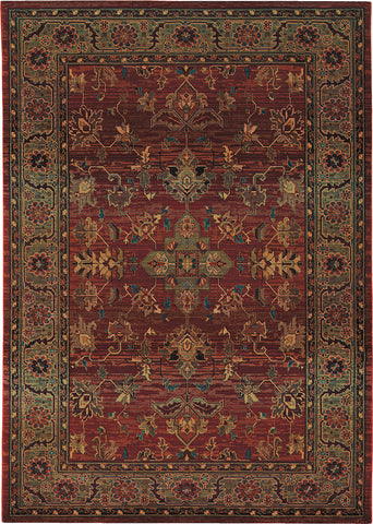 Oriental Weavers Kharma 836C4 Red/Green Area Rug main image