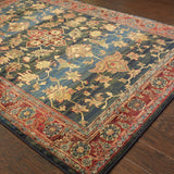Oriental Weavers Kharma 836F4 Blue/Red Area Rug Detail Shot