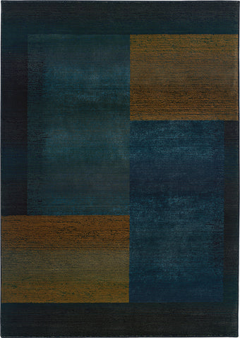 Oriental Weavers Kharma II 1092L Blue/Gold Area Rug main image