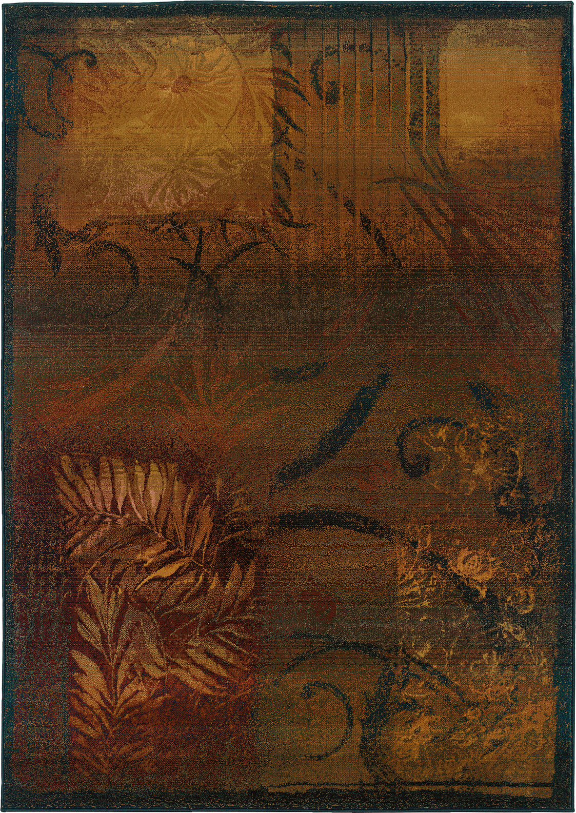 Oriental Weavers Kharma II 1163B Brown/Gold Area Rug main image