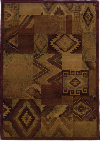 Oriental Weavers Kharma II 022R4 Tan/Red Area Rug main image