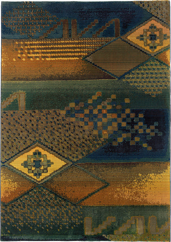 Oriental Weavers Kharma Ii 618F4 Blue/Green Area Rug main image