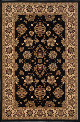 Oriental Weavers Knightsbridge 122K5 Black/Ivory Area Rug main image