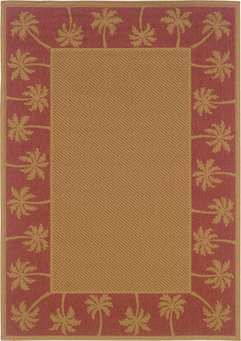 Oriental Weavers Lanai 606C8 Beige/Red Area Rug main image