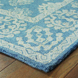 Oriental Weavers Manor 81201 Blue/ Grey Area Rug Corner
