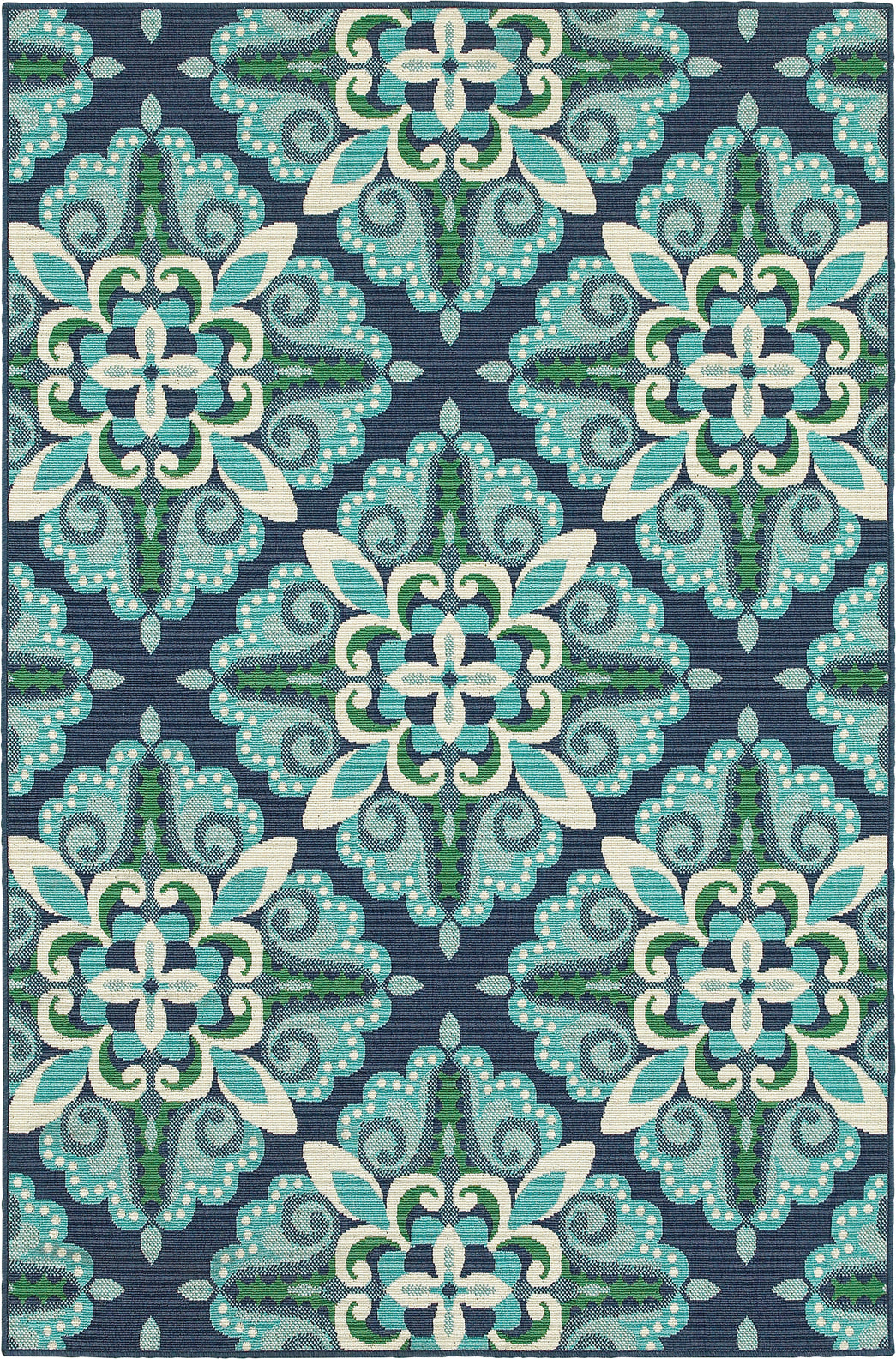 Oriental Weavers Meridian 2206B Blue/Green Area Rug main image
