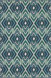 Oriental Weavers Meridian 2209B Navy/Green Area Rug main image