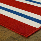 Oriental Weavers Meridian 5701R Red/Blue Area Rug Corner