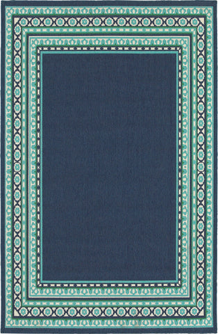 Oriental Weavers Meridian 9650B Navy/Green Area Rug main image