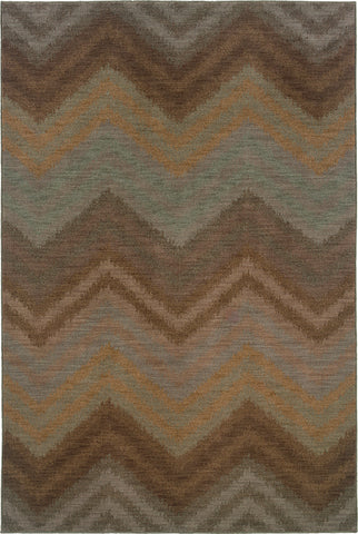 Oriental Weavers Milano 2923C Brown/Blue Area Rug main image