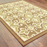 Oriental Weavers Montego 2335G Green/Ivory Area Rug Closeup