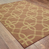Oriental Weavers Montego 6991N Brown/Green Area Rug Closeup