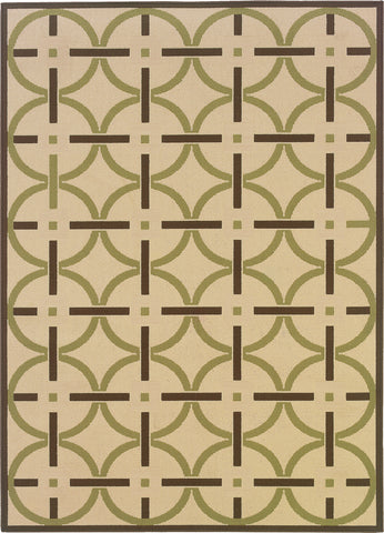 Oriental Weavers Montego 895J6 Ivory/Brown Area Rug main image