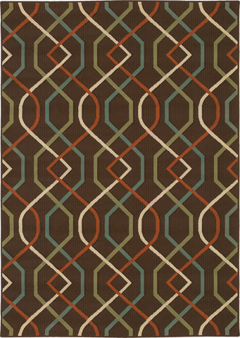Oriental Weavers Montego 896N6 Brown/Ivory Area Rug main image