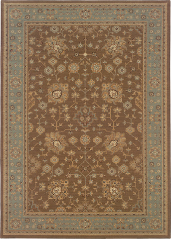 Oriental Weavers Nadira 220D2 Tan/Blue Area Rug main image