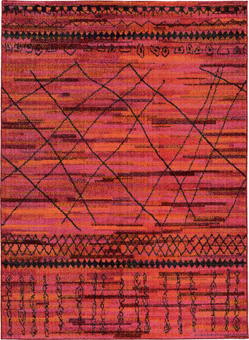 Oriental Weavers Nomad 633R5 Orange/Pink Area Rug main image