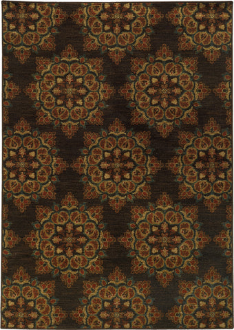 Oriental Weavers Parker 5495C Brown/Rust Area Rug main image