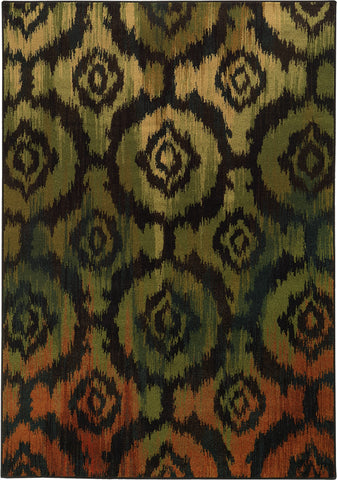 Oriental Weavers Parker 5601B Black/Green Area Rug main image