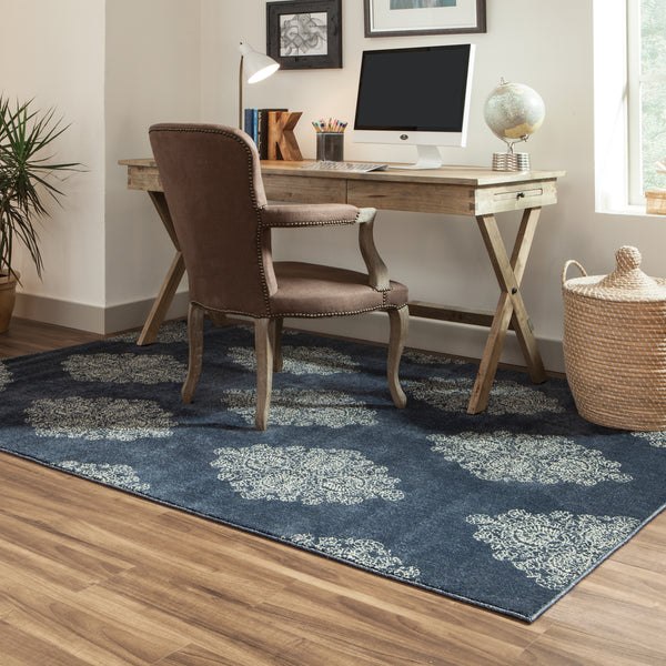 Oriental Weavers Pasha 5992k Blue Ivory Area Rug Incredible Rugs And Decor