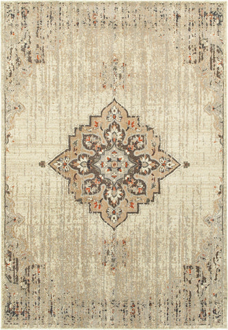 Oriental Weavers Pasha 072J2 Ivory/ Brown Area Rug main image